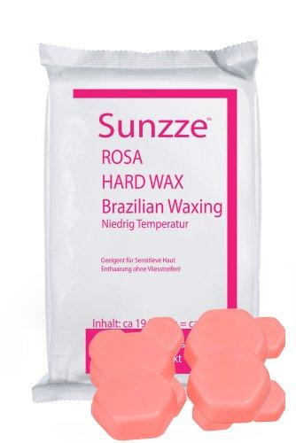 Sunzze Niedriger Schmelzpunkt Wachs- Blöcke Rose SUPRA 1 Kg. Für Intim Achseln und Gesicht