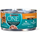 Purina One True Instinct Recipes Wet Cat Food, Chicken In Gravy, (24) 3 Oz. Cans