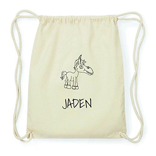 JOllipets JADEN Hipster Turnbeutel Tasche Rucksack aus Baumwolle Design: Pferd vXzhmLKWP