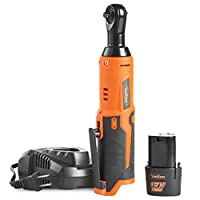 """VonHaus Cordless Electric Ratchet Wrench Set with 12V Lithium-Ion Battery and Charger Kit 1/4"""" Drive 15/373US"""