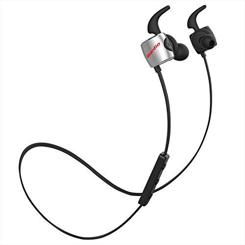 Bluedio TE (Turbine) Bluetooth 4.1 Wireless Sports Headphones, Sweatproof Running Earbuds with Mic (Black)