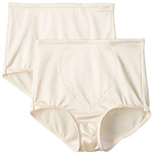 Bali Women's Shapewear Tummy Panel Brief Firm Control 2-Pack, Light Beige, X-Large