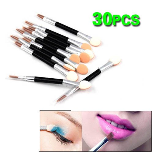 30X Disposable Eye Shadow Sponge Applicators Double End Brush Make Up