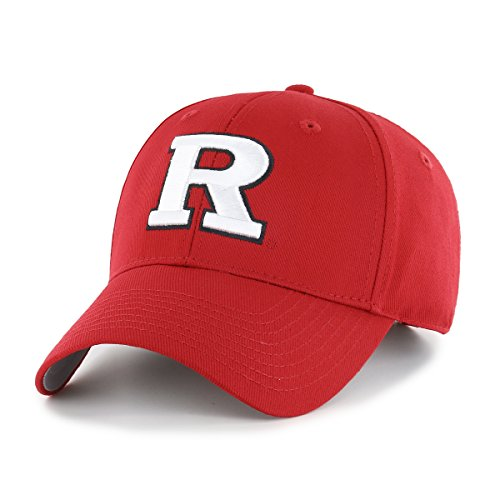OTS NCAA Rutgers Scarlet Knights All-Star MVP Adjustable Hat, Red, One Size (Scarlet Logo Knights Rutgers)