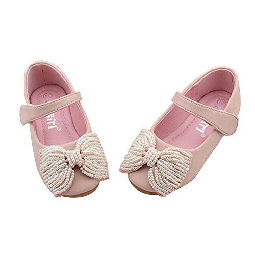 Zhuhaixmy Neue Kinder Kleinkind Mädchen Kind süße Schuhe Bowknot Prinzessin Partei Schuhe Pink