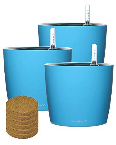 Self Watering Planter Pots & Coconut Coir Potting Soil 7
