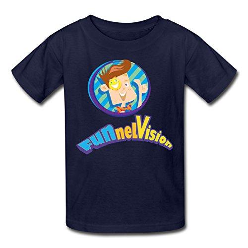 - Spreadshirt Funnel Vision Official Merch Kids' T-Shirt, L, Navy