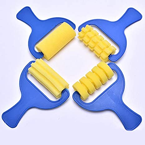 kangOnline 12Pcs//Set Kids Paint Brushes Sponge Painting Brush Art DIY Tool Toys for Children