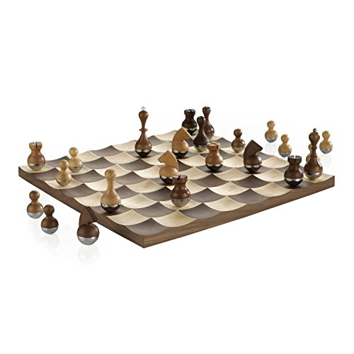 Chess Luxury Boards - Umbra 377601-656 Wobble Chess Set, Brown