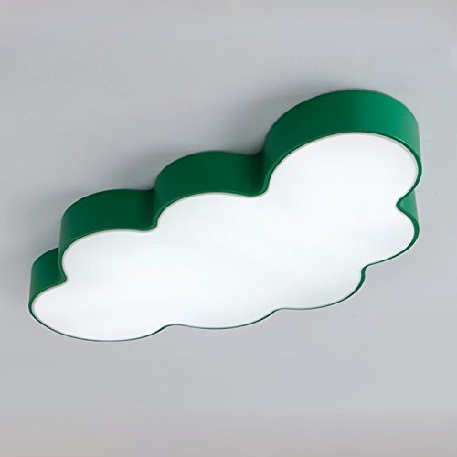 FAJZF Ceiling Lights, European Creative Children's Room Cloud LED Ceiling Lamp boy Girl Decoration lamp,Green