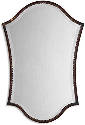 Uttermost Abra Vanity Mirror in Lightly Distressed Bronze