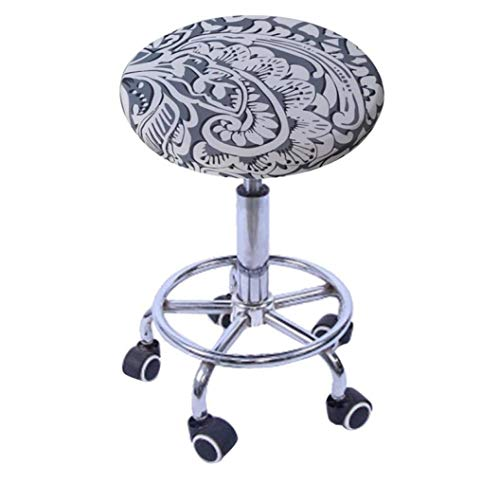 BERTERI Elegant Printed Round Stool Slipcover 4 Pack Washable Chair Covers for Stump Chair Bar Barbershop Seat - Zebra Slipcover