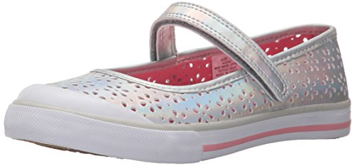 (Hanna Andersson Agda Girl's Mary Jane (Toddler/Little Kid/Big Kid), Silver, 10 M US Toddler)