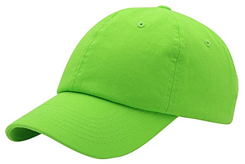 (Top Level Baseball Cap for Men Women - Classic Cotton Dad Hat Plain Cap Low Profile, LIM Lime)