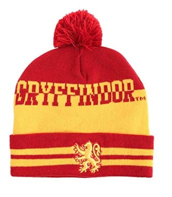 Harry Potter Pom Beanie | House Crest Collectors Edition (Gryffindor, Ravenclaw, Slytherin, Hufflepuff) -