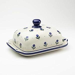 Polish Pottery Butter Dish Sloeberry