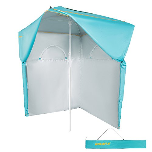 #WEJOY Dressing Beach Umbrella Multi-Function Portable Ultralight Sun Shelter UPF 50+ Protection Canopy Tent with Sand Anchor for Beach