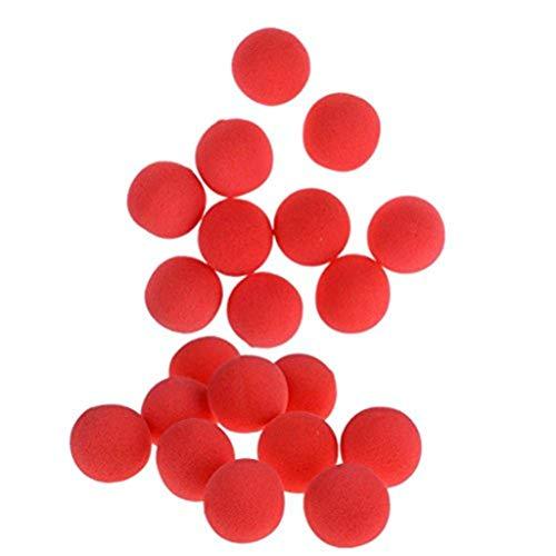 37YIMU 20Pcs Red Sponge Soft Ball Close-Up Magic Street Classical Comedy Trick Props (1.77inch)