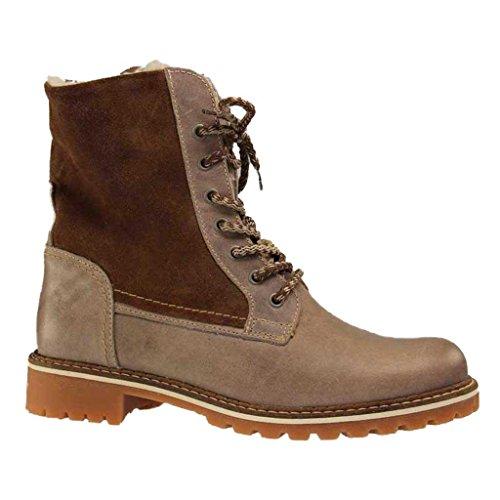 Mustang Damen Boots - Braun Schuhe in Übergrößen Taupe