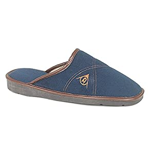 Mens famous DUNLOP ANDREW faux suede Mule Slippers