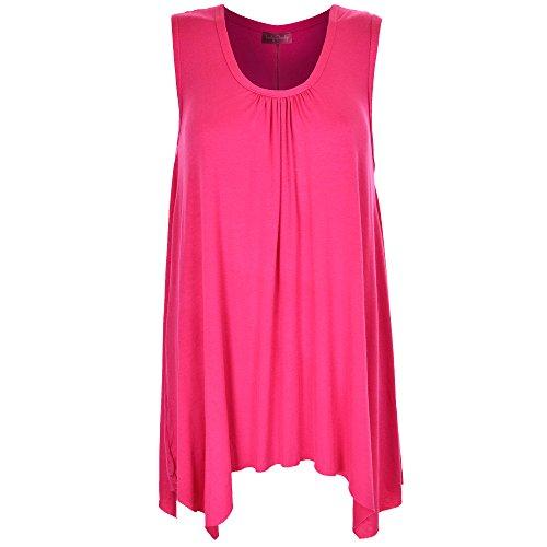 Body 2 Body - Camiseta sin mangas - Sin mangas - para mujer Hot Pink