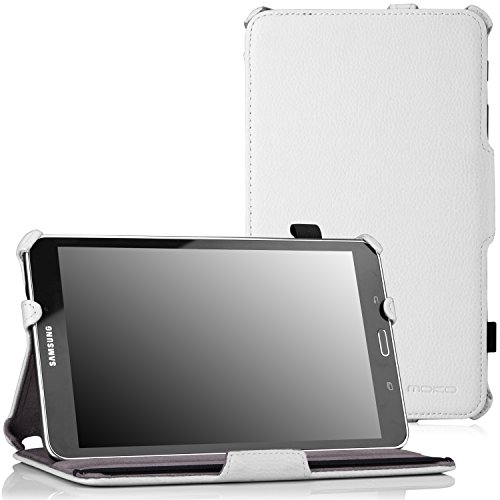 MoKo Samsung Galaxy Tab 4 8.0 Case - Slim-Fit Multi-angle Folio Cover Case for Samsung Galaxy Tab 4 8.0 Inch Tablet, WHITE (With Smart Cover Auto Wake / Sleep. WILL NOT Fit Samsung Galaxy Tab 3 8.0)