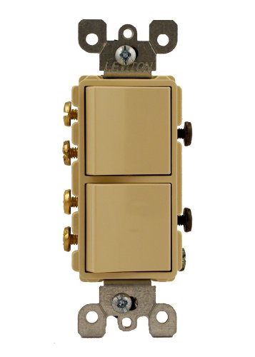 Decora Switch Style (Leviton 5643-I 15 Amp, 120/277 Volt, Decora Brand Style 3-Way / 3-Way AC Combination Switch, Commercial Grade, Grounding, Ivory)