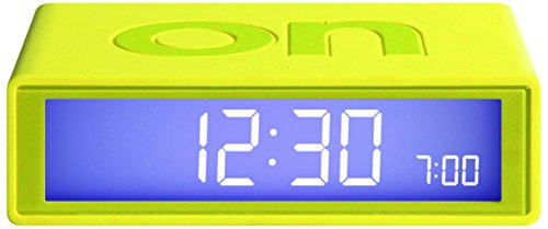 Lexon Flip On/Off Alarm Clock (Yellow)