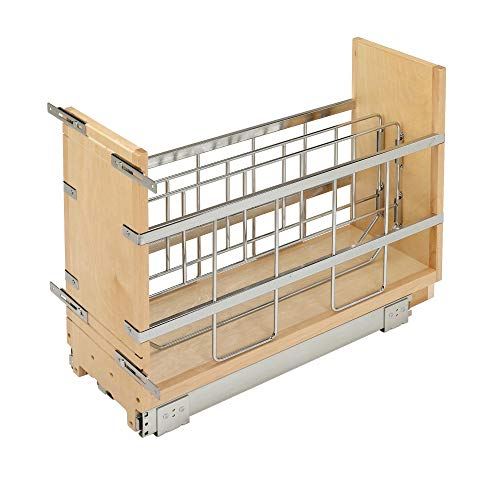 Rev-A-Shelf 447-BCBBSC-5C 447 Series 5 Inch Wide Pull Out Foil, Wrap, Sheet, and Tray Divider Cabinet Organizer for Kitchen Base Cabinets