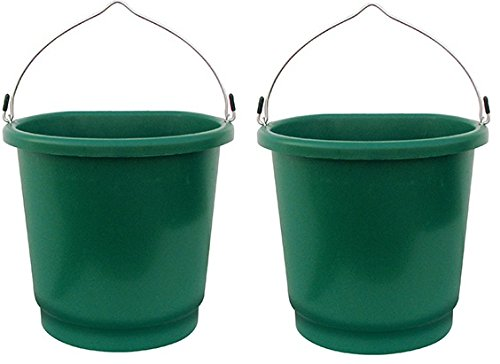 Farm Innovators FB-120 5 Gallon 120W Heated Flat Back Bucket - Quantity 2 (Bucket Flat Heated)
