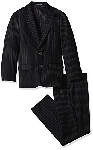 Van Heusen Big Boys' Bold Twill Stripe 2 Pc Suit, Black, (Bold Suits)