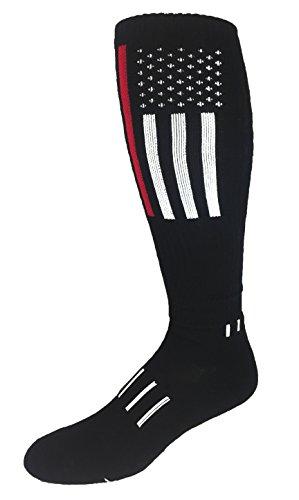 e7567b63f28 MOXY Sock The Thin Red Line Woven Deadlift Block Knee-High Socks ...