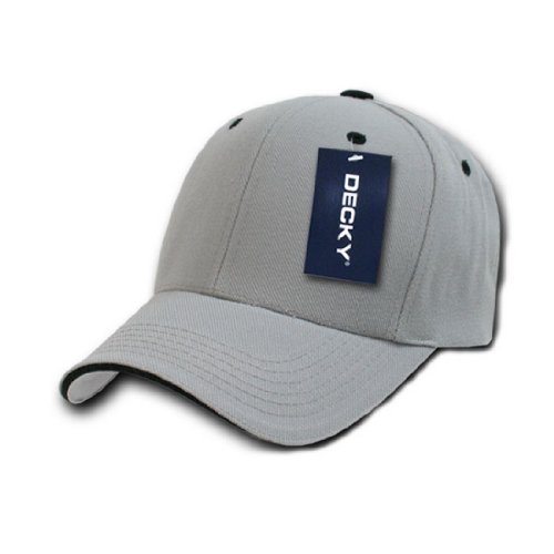 (DECKY Inc Sandwich Visor two Tone Baseball Caps 2003 Grey Black )