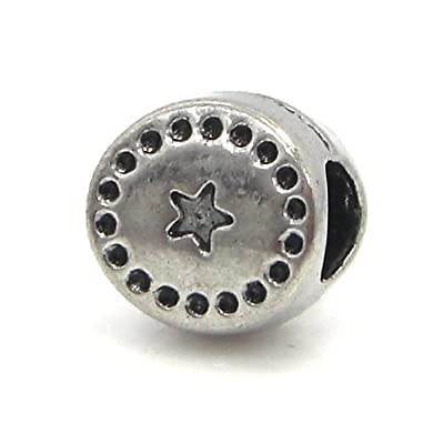 """Jewelry Monster """"Western Star Buckle"""" Charm Bead for Snake Chain Charm Bracelet"""