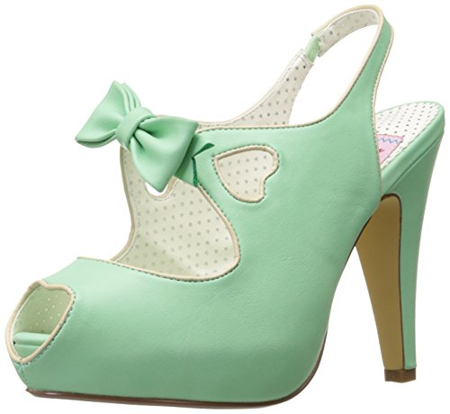 Pin Up Couture Women's Bett03/mtpu Platform Sandal Mint Faux Leather 9 M US
