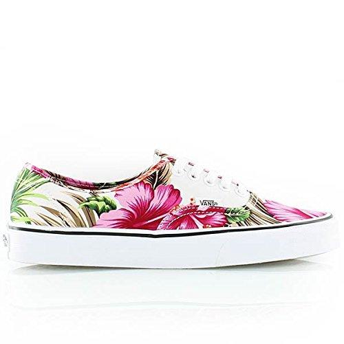 59b8cf6572 Vans Authentic Hawaiian Floral White Skateboarding Shoes (Men 5  Women 6.5)