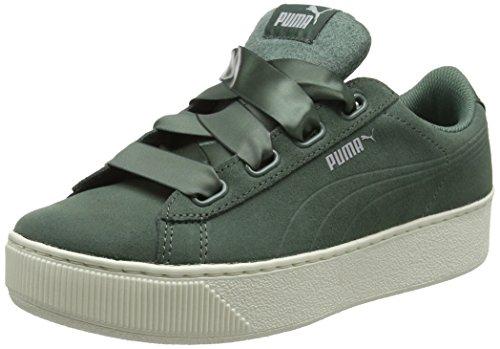Puma Ruban De Plate-forme Damen Vikky Chaussure S Noir, 36 Eu Grau (couronne Couronne Laurier Laurier-05)