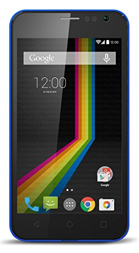 Polaroid A4BL 4-Inch Unlocked Smartphone with No Contract, 4G HSPA+ Dual SIM GSM, Android 4.4 KitKat, Blue (Retail Packaging)