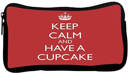 Rikki Knight Keep Calm and Have a Cupcake - Red Design Ne...