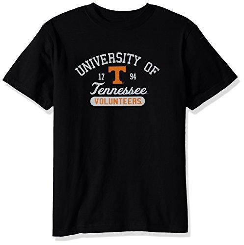 College Kids NCAA Tennessee Volunteers Youth Short Sleeve Tee, Size 14-16/Large, Black