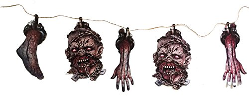 "Halloween Zombie Heads and Limbs Garland (60"" Long)"