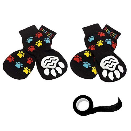 PAWCHIE Anti-Slip Dog Socks for Hardwood Floors, Pet Paw Protection for Injured Paw, Indoor Wear (Best Hardwood Floors For Dogs)
