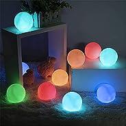 YONGQING Luzes de LED solares infláveis, luzes flutuantes de piscina de 33 cm, à prova d'água, que mudam d