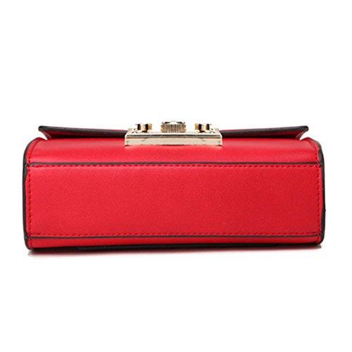 unique sac Wewod messager serrure épaule Rouge nouveau petite boucle femme mode sac a Ladies BBYqgaR