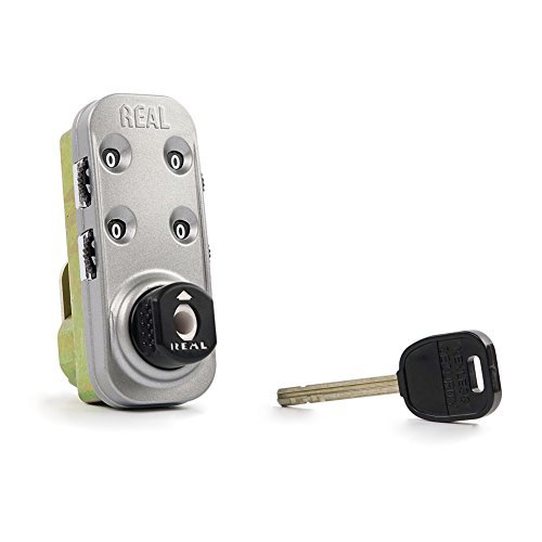 Keyless Combination - REAL Cabinet Keyless Combination Lock RL9046 - Keyless Door Lock Knob, Combination Cam Lock with Key Override