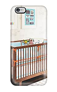 Hana Heinen Design High Quality Nursery With Brown Wood Crib And White-framed Prints Cover Case With Excellent Style For Iphone 6 Plus