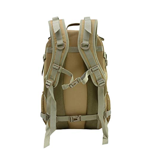 Military Tactical Backpack - 45L Outdoor Waterproof Backpack, Adjustable & Removable Chest Belt and Hip Belt Trekking Backpack, for Camping, Hiking, Trekking (♥ C) by Hisoul (Image #4)