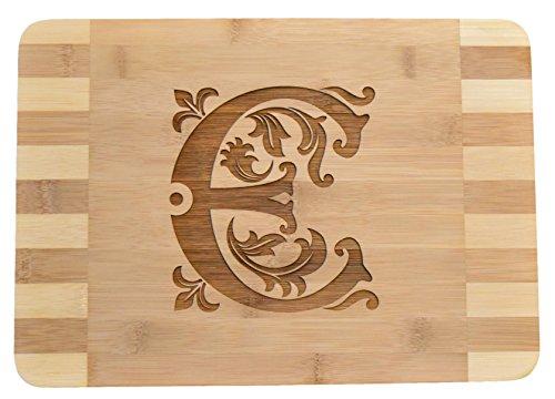 Personalized/Custom Engraved Monogram Bamboo Wood Cutting Board - 13.5