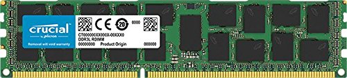 Crucial 16GB Single DDR3L 1600 MT/s (PC3-12800) DR x4 RDIMM 240-Pin Server Memory CT16G3ERSLD4160B