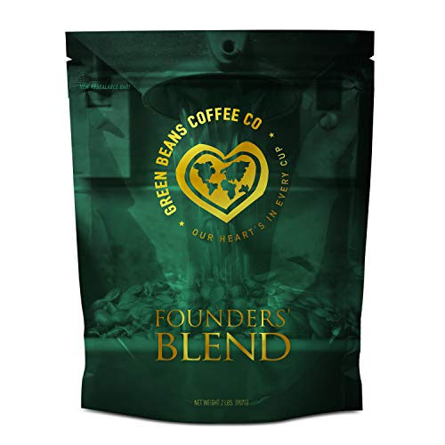 Green Beans Coffee Founders' Blend, Whole Bean, 2 Pound Bag ()